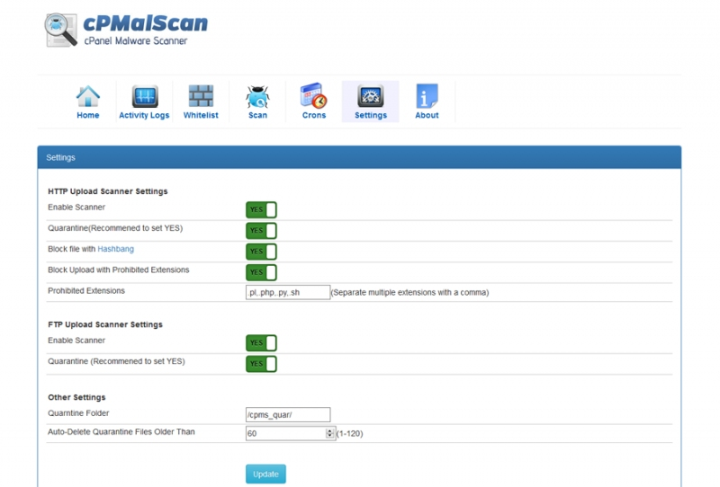cPanel App Catalog :: cPMalScan - cPanel Malware & Phishing Content